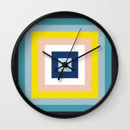 Retro Colored Squares Wall Clock