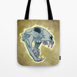 Tiger Skull Tote Bag