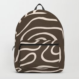Topographic Map / Brown & Nude Backpack