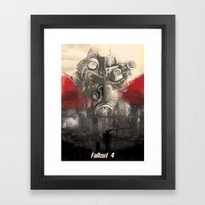 Fallout 4 print poster Framed Art Print