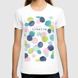 Just Breathe Watercolor T-shirt