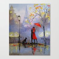 romantic Canvas Prints featuring Romantic by OLHADARCHUK