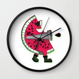 Mr. Watermelon Man Wall Clock