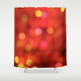 Holiday Bokeh Shower Curtain