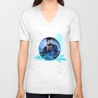 garrus V-neck T-shirts featuring Garrus Vakarian with shades by Vulpa