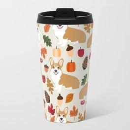 Corgi Autumn Fall woodland pillow phone case cute corgi design corgi dog pattern corgis love Travel Mug