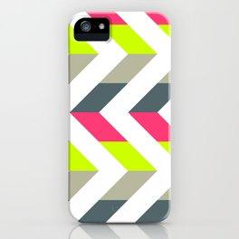 Neon Strawberry - Chevron Geometric Pattern iPhone Case