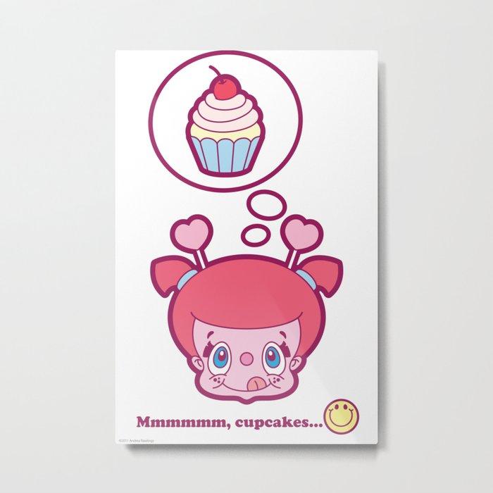 Mmmmmm, cupcakes Metal Print