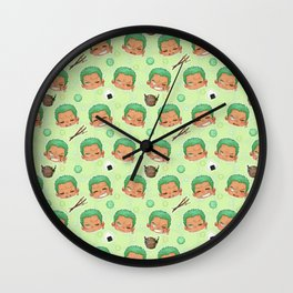 Zoro Pattern Wall Clock