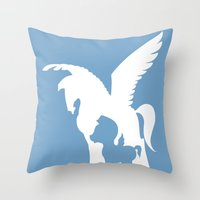 hercules Throw Pillows featuring Hercules by Citron Vert