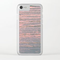 Rustic pastel weathered wood Clear iPhone Case