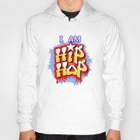 hip hop Hoodies featuring HIP-HOP by DaeSyne Artworks