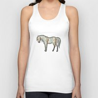 wooden Tank Tops featuring Wooden horse by Vin Zzep