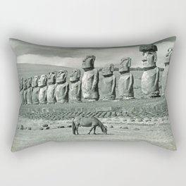 EASTER ISLAND VISTA Rectangular Pillow