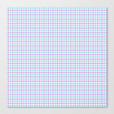 Gingham purple and teal Canvas Print