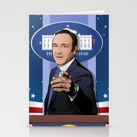 house of cards Stationery Cards featuring House of Cards: Frank Underwood USA President by Akyanyme