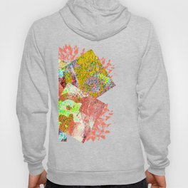 Living Coral abstract Hoody