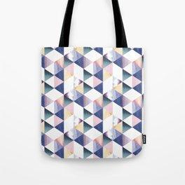 Watercolor geometric pastel colored seamless pattern Tote Bag