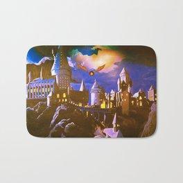 Hogwarts At Starry Night Bath Mat