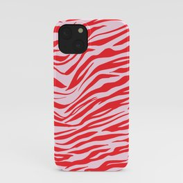 Pink & Red Animal Stripes iPhone Case