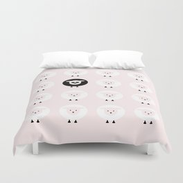 Pink tales of a black sheep Duvet Cover