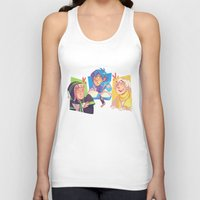 dmmd Tank Tops featuring Blue Baby Robot Nerd Trash Prince by Andy Y.