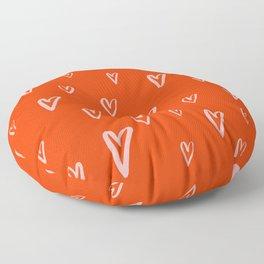 Heart Doodles 2 Floor Pillow