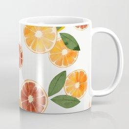 sliced oranges and spring watercolor Coffee Mug