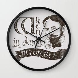 Mumble Wall Clock