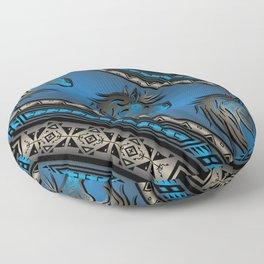 Horse Nation (Blue) Floor Pillow