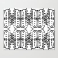 bauhaus Canvas Prints featuring Bauhaus by karine jan