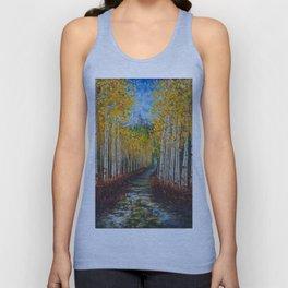 Nelly Creek painting of Uncompahgre National Forest Unisex Tank Top