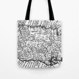 Vintage Map of Jamaica (1771) BW Tote Bag