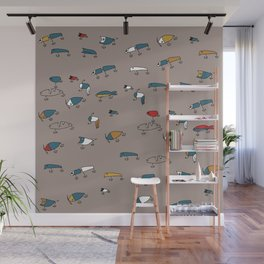 Brown Lures Wall Mural