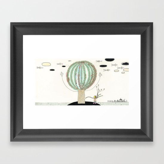Knock Knock Knock-Tree Framed Art Print