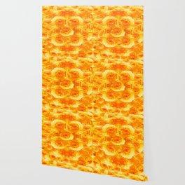 MODERN  GOLDEN ROSES FLOWERS CARPET Wallpaper