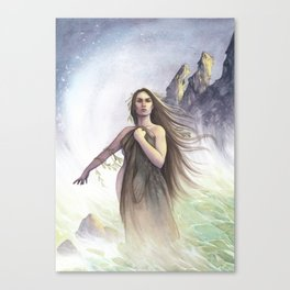 My Skin, portrait of a Selkie Canvas Print