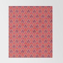 Bishamon Kikko (Bishamon's Armor) Japanese Kimono Pattern Throw Blanket