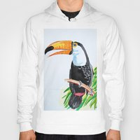 toucan Hoodies featuring Toucan by The Traveling Catburys