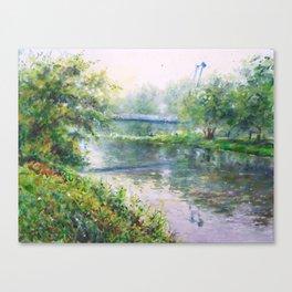 Pedestrian Bridge over the Spree Canvas Print