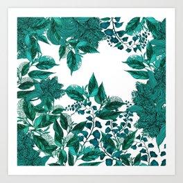 Dark Forest (Emerald) Art Print