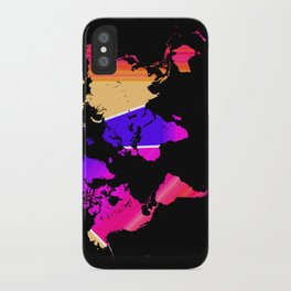 Reflections world map iPhone Case