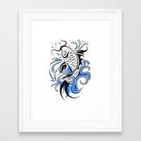 koi fish Framed Art Prints featuring Koi Fish  by JonathanStephenHarris