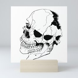 Skull (Fragmented and Conjoined) Mini Art Print