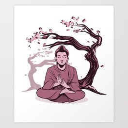 Buddha Relaxing Art Print