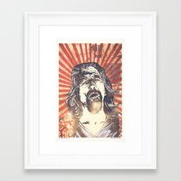 big lebowski Framed Art Prints featuring Big Lebowski by Tommy Lennartsson