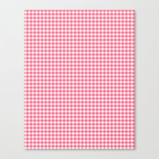 Picnic Pals gingham in strawberry Canvas Print