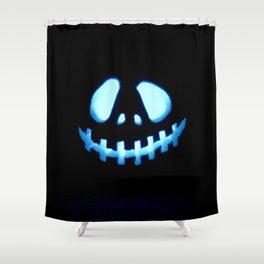 halloween Jack O Lantern Blue Shower Curtain