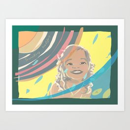 Smiling Helps Art Print