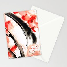 Black White Red Art - Tango 3 - Sharon Cummings Stationery Cards